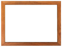 Classic frame. Slim and smooth wooden picture frame. Classic frame. Slim and smooth wooden picture frame isolated on white background Royalty Free Stock Photo