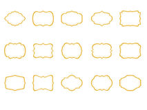 Classic Frames set of 15, Borders Clip Art, Gold Etiquette, Brackets clip art Royalty Free Stock Photo