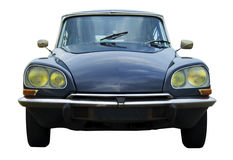 Classic french car. Isolated on white. Including clipping path citroen ds Stock Photography