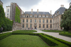 Classic french castle in Paris. Royalty Free Stock Photos