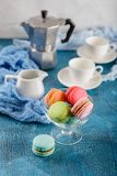 Different types of macaroons Royalty Free Stock Photos