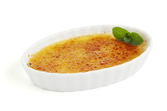 Classic french dessert creme brulee Stock Photos