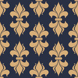 Classic French fleur-de-lis seamless pattern Royalty Free Stock Photos