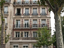 Classic french house on Paris street. Royalty Free Stock Images