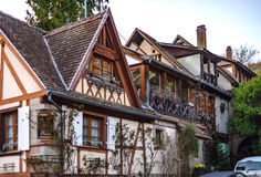 Classic french house in residential district of Strasbourg, blos Royalty Free Stock Photography