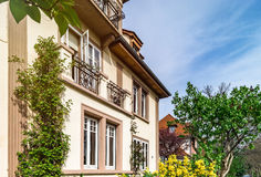 Classic french house in residential district of Strasbourg, blos Royalty Free Stock Image