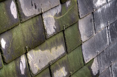 Classic French Slate Roof Royalty Free Stock Photography