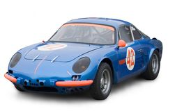 Classic French sports car. From the seventies Royalty Free Stock Image