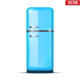 Classic Fridge refrigerator. Vector isolated on Royalty Free Stock Image