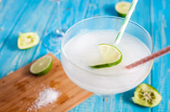 Classic frozen margarita cocktail Stock Photos