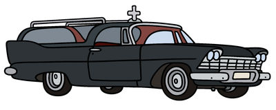 Classic funeral car Royalty Free Stock Photo