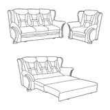 Classic furniture Royalty Free Stock Photos