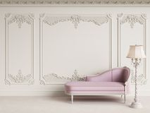 Classic furniture in classic interior with copy space royalty free illustration