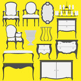 Classic furniture and Home Accessories. Stock Photos
