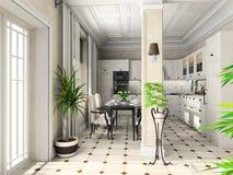classic furniture kitchen Στοκ Εικόνες