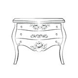Classic furniture with royal luxury ornaments Stock Images
