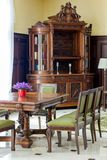 Classic furniture - table and chairs in hall. Classic furniture - table and chairs in hall Stock Photos