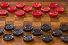 Classic Game of Checkers Royalty Free Stock Photo