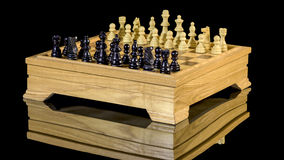 Classic game of chess pieces and board Stock Photography