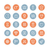 Classic game flat icons set Stock Photo