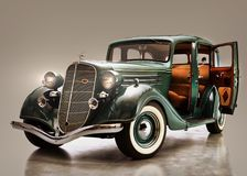 Classic gangster car from the 1930's Stock Photos