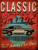 Classic Garage - Vector EPS10 Tee Graphic Design Stock Image
