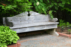 Classic Garden Bench Stock Photography