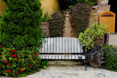 Classic Garden bench Royalty Free Stock Photography