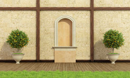Classic garden with niche Royalty Free Stock Photography
