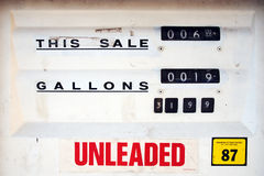 Classic Gas Pump Royalty Free Stock Photo