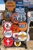 Classic Gasoline Company Tekens Stock Foto