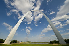 Classic Gateway Arch Picture. A classic shot of the gateway arch in St. Louis Stock Photography