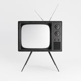 Classic generic vintage TV mockup. isolated on white background. 3d rendering Royalty Free Stock Photos
