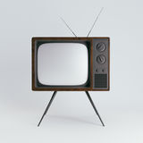 Classic generic vintage TV mockup.  on white background. 3d rendering Stock Photos