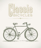 Classic gentlemans bicycle Royalty Free Stock Images