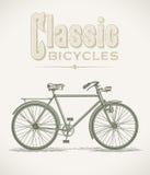 Classic gentlemans bicycle stock illustration