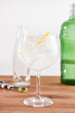 Classic gin tonic in balon glass Royalty Free Stock Image