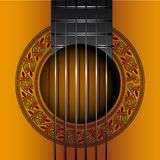 Classic gitar album cover EPS vector file. Classic gitar music album cover, background EPS vector file stock illustration