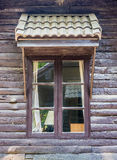 Classic glass window with roof Stock Photo