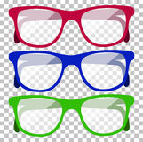 Classic Glasses Icon Stock Photo