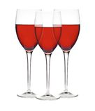 Classic Glasses of Red Wine isolated on a white Stock Photo