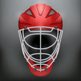 Classic Goalkeeper Hockey Helmet Stock Photo