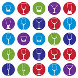 Classic goblets collection – martini, wineglass, cognac and wh Stock Photo