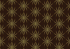 Classic Gold Ant Pattern on Brown Background Royalty Free Stock Photo