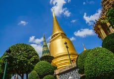 Classic golden buddhist chedi in Bangkok, Thailand stock photos