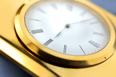 Classic golden clock Stock Photography