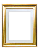 Classic golden Frame isolated on white Stock Photos
