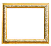 Classic golden Frame isolated on white Stock Photo