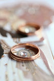 Classic golden ring Royalty Free Stock Images