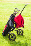 Classic golf bag Stock Photo